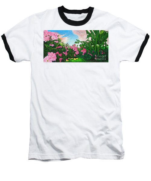 Flower Garden Xi Baseball T-Shirt by Michael Frank