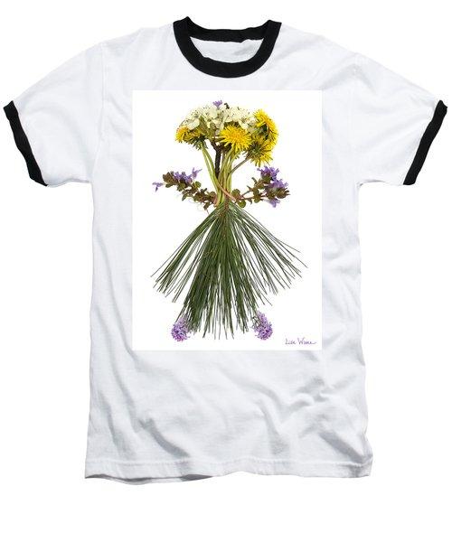 Flower Head Baseball T-Shirt