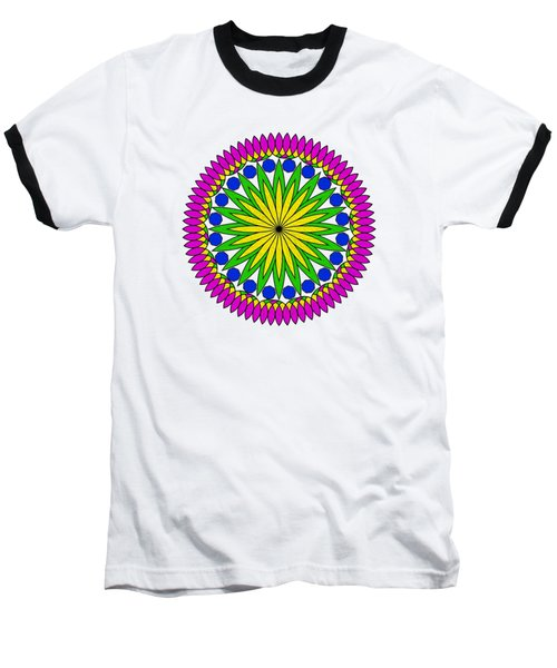 Flower Mandala By Kaye Menner Baseball T-Shirt