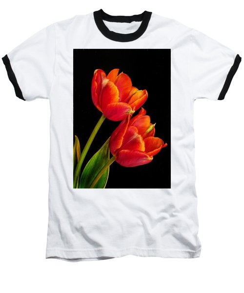 Flower Of Love Baseball T-Shirt by David and Carol Kelly