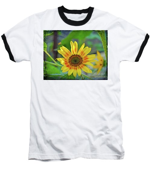 Baseball T-Shirt featuring the photograph Flower Of The Sun by Kerri Farley