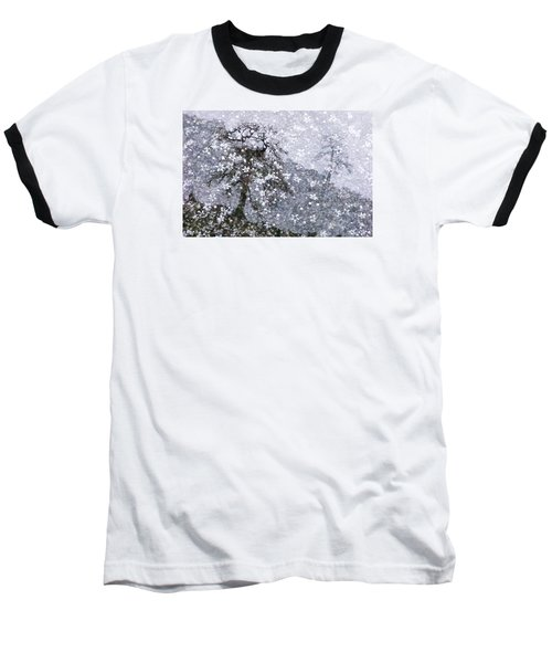 Flower Shower Baseball T-Shirt by Ed Hall