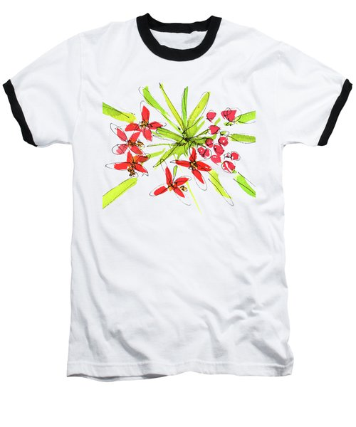 Flower Star By Kmcelwaine Baseball T-Shirt