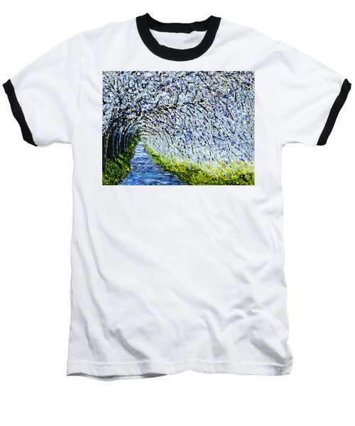 Flowering Tree Lane Baseball T-Shirt