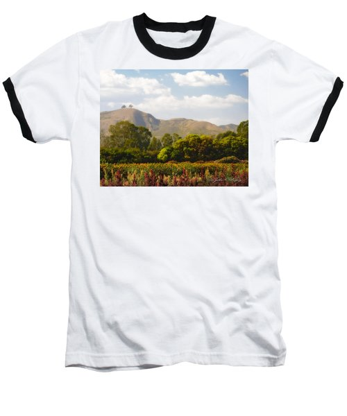 Flowers And Two Trees Baseball T-Shirt
