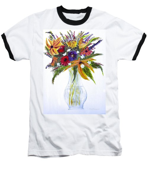 Flowers For An Occasion Baseball T-Shirt by Dick Bourgault