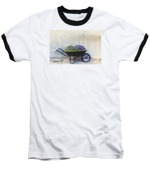 Flowers In A Wheelbarrow Baseball T-Shirt