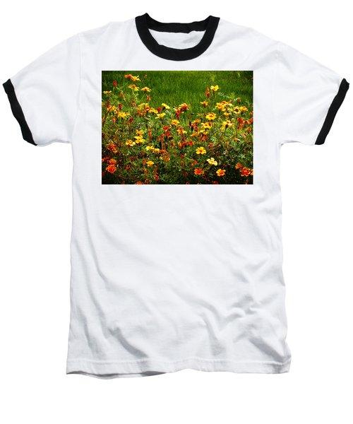Flowers In The Fields Baseball T-Shirt by Joseph Frank Baraba