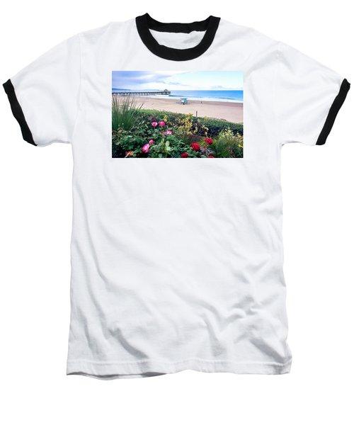 Flowers Of Manhattan Beach Baseball T-Shirt by Art Block Collections