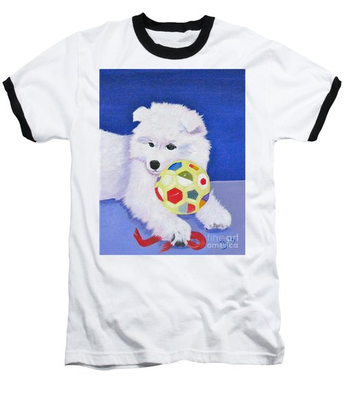Fluffy's Portrait Baseball T-Shirt