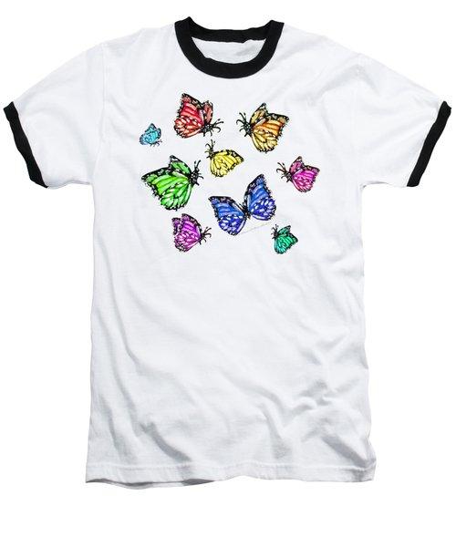 Flutters Baseball T-Shirt by Shana Rowe Jackson