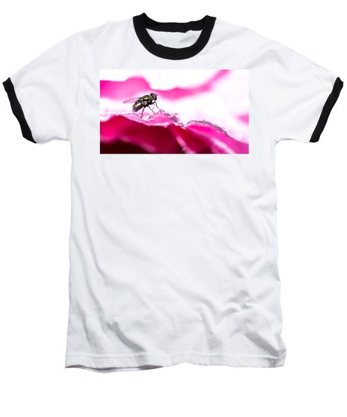 Fly Man's Floral Fantasy Baseball T-Shirt