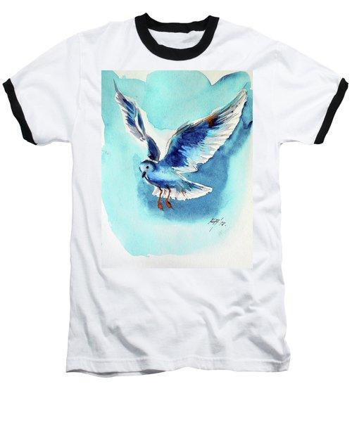 Flying Bird Baseball T-Shirt by Kovacs Anna Brigitta