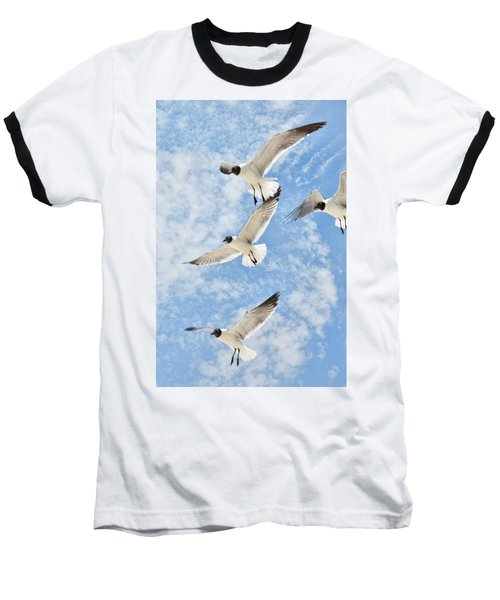 Flying High Baseball T-Shirt by Jan Amiss Photography