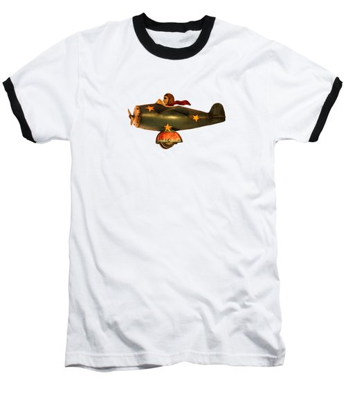 Flying High Baseball T-Shirt by Linsey Williams
