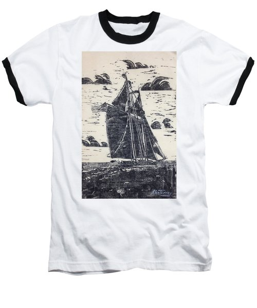 Baseball T-Shirt featuring the painting Flying High by Stan Tenney