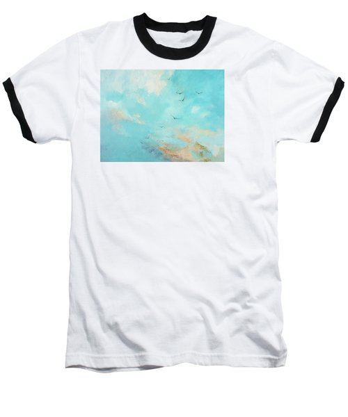 Baseball T-Shirt featuring the painting Flying High by Dina Dargo
