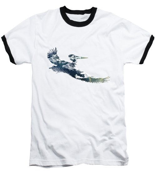 Flying Pelican Baseball T-Shirt