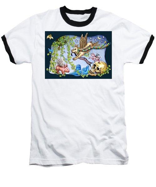 Flying Pig Party 2 Baseball T-Shirt