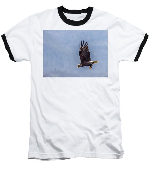 Baseball T-Shirt featuring the photograph Flying With His Mouth Full.  by Timothy Latta