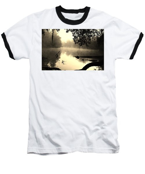 Fog And Light In Sepia Baseball T-Shirt by Warren Thompson