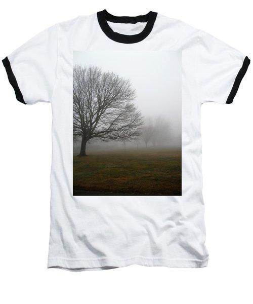 Fog Baseball T-Shirt by John Scates