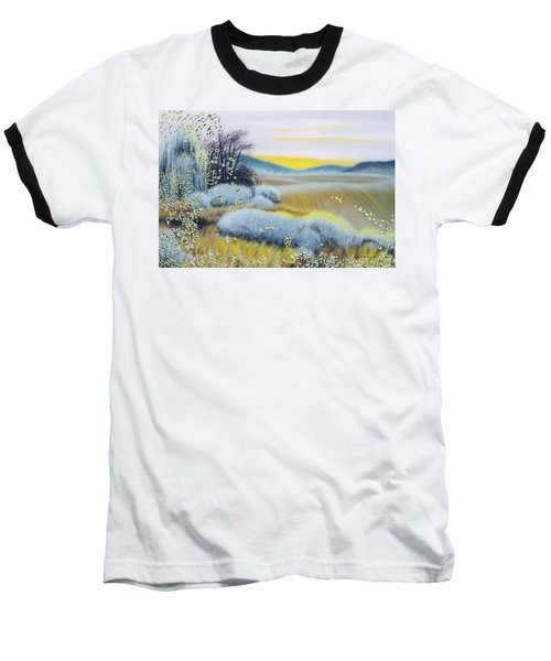 Foggy Dawn Through Window Baseball T-Shirt