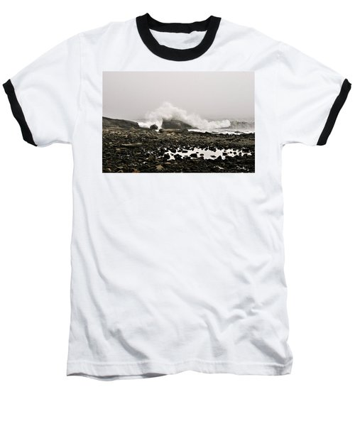 Foggy Day At The Coast Baseball T-Shirt