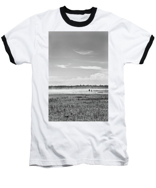 Foggy Day On A Marsh Baseball T-Shirt