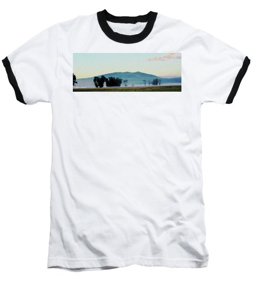 Foggy Field Baseball T-Shirt
