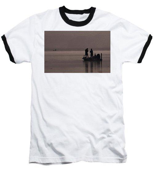Foggy Fishing Baseball T-Shirt