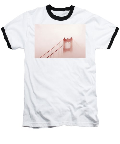 Baseball T-Shirt featuring the photograph Foggy Golden Gate by Art Block Collections