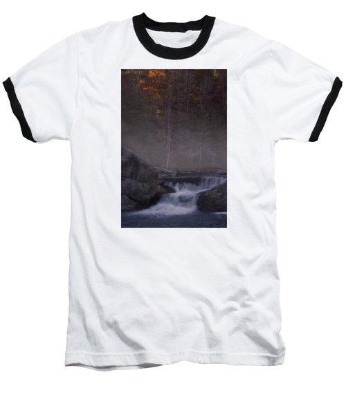 Baseball T-Shirt featuring the photograph Foggy Morning At Linville Falls by Ellen Heaverlo