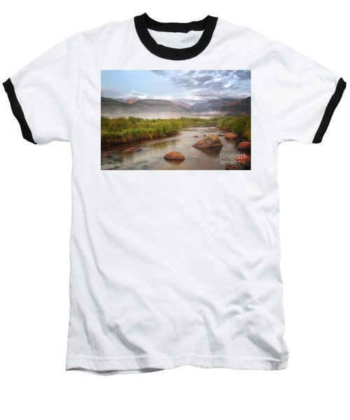 Foggy Morning In Moraine Park Baseball T-Shirt by Ronda Kimbrow