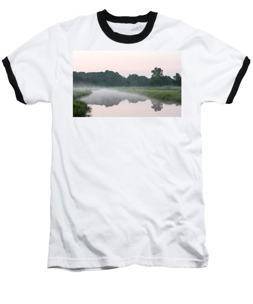 Foggy Morning Reflections Baseball T-Shirt
