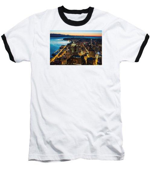 Follow The Yellow Brick Road Baseball T-Shirt by Ryan Manuel