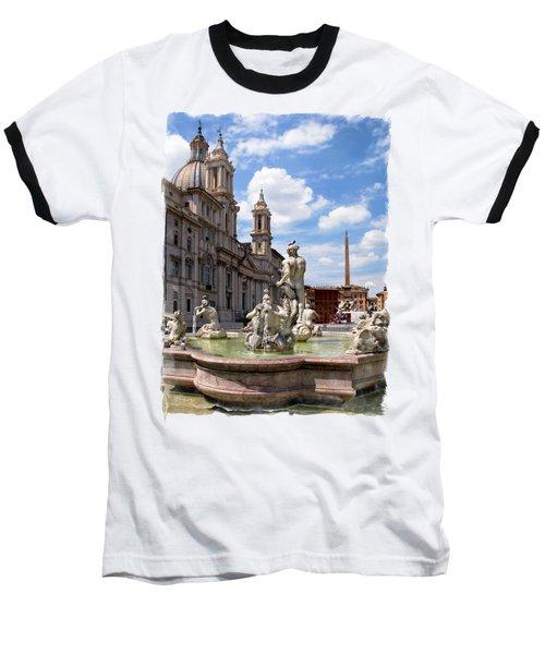 Fontana Del Moro.rome Baseball T-Shirt