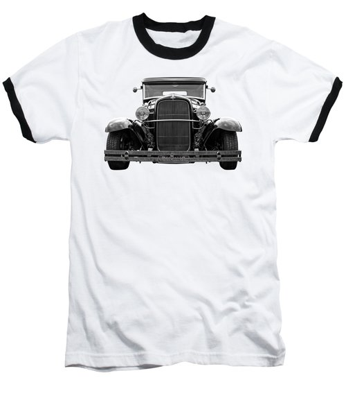 Ford Coupe Head On In Black And White Baseball T-Shirt