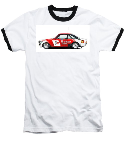 Ford Escort Rs Belga Team Illustration Baseball T-Shirt
