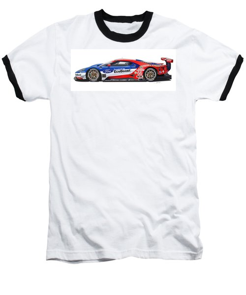 Ford Gt Le Mans Illustration Baseball T-Shirt