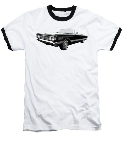 Baseball T-Shirt featuring the photograph Ford Mercury Park Lane 1966 Black And White by Gill Billington