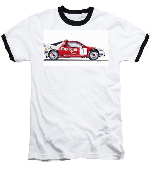 Ford Rs 200 Belga Team Illustration Baseball T-Shirt by Alain Jamar
