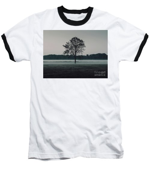 Baseball T-Shirt featuring the photograph Forest Fog by MGL Meiklejohn Graphics Licensing
