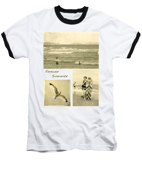 Baseball T-Shirt featuring the photograph Forever Summer 3 by Linda Lees