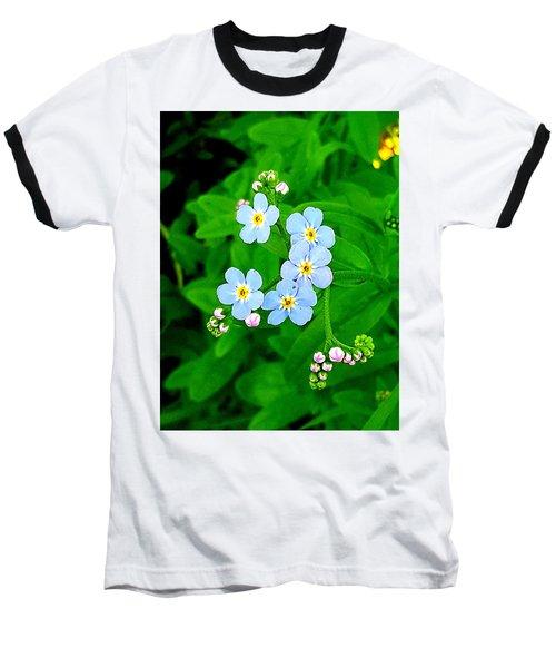 Forget Me Nots Baseball T-Shirt