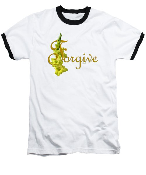Baseball T-Shirt featuring the digital art Forgive by Ann Lauwers