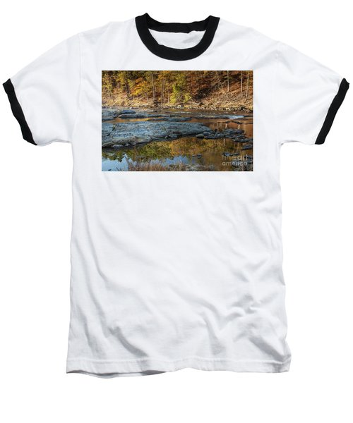 Baseball T-Shirt featuring the photograph Fork River Reflection In Fall by Iris Greenwell