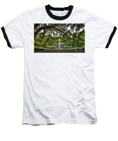Forsyth Park Fountain Historic Savannah Georgia Baseball T-Shirt by Reid Callaway