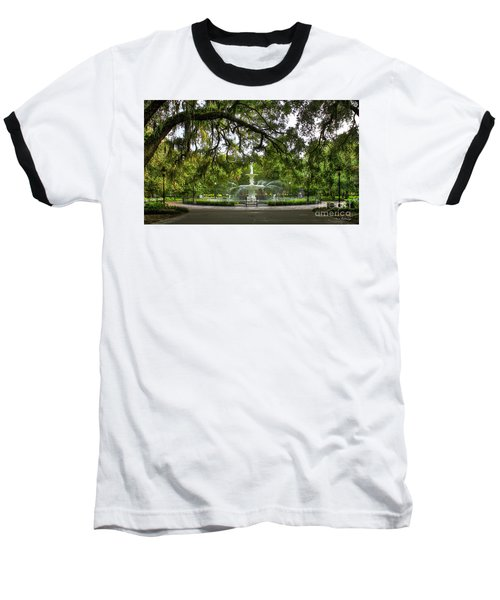 Forsyth Park Fountain Historic Savannah Georgia Baseball T-Shirt