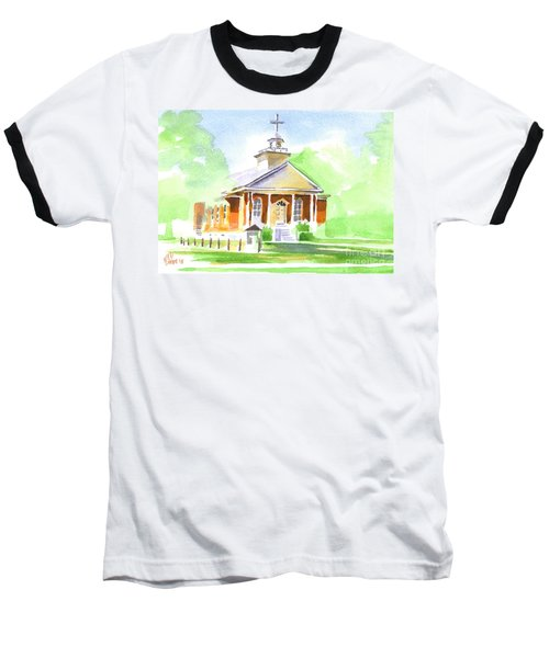Baseball T-Shirt featuring the painting Fort Hill Methodist Church 2 by Kip DeVore